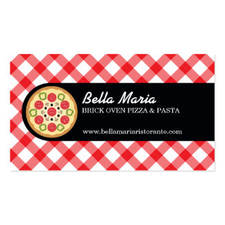 Restaurante italiano de la pizza tarjetas de visita