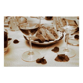 Restaurante italiano: Pan, vino, Bougainvillea Posters