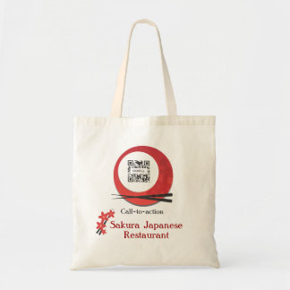 Restaurante japonés de la plantilla del bolso bolsa tela barata