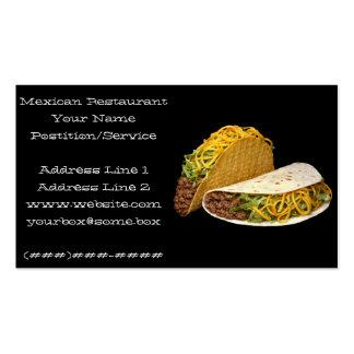Restaurante mexicano tarjetas de visita
