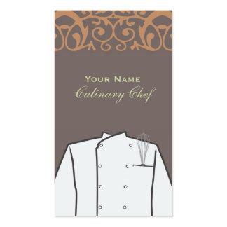 Restaurante personal culinario del abastecimiento tarjetas de visita