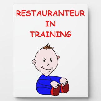 restaurante placas con foto