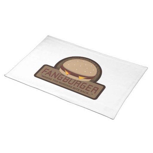 Restaurante Placemat de Fangburger Manteles Individuales