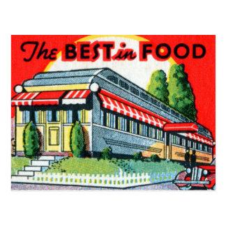 Restaurante retro del kitsch del vintage mejor de tarjetas postales