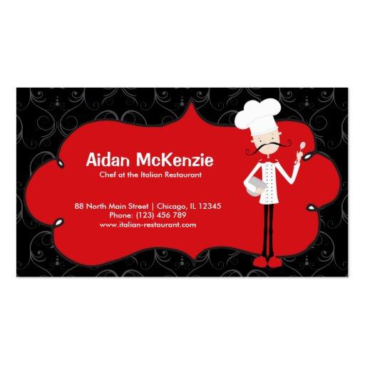 Restaurante superior del cocinero tarjeta de visita