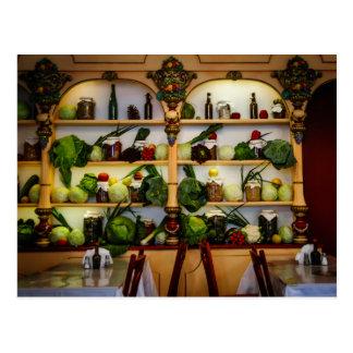 Restaurante vegetariano (exhibición) postales