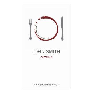 Restaurante y abastecimiento del cocinero con la tarjetas de visita