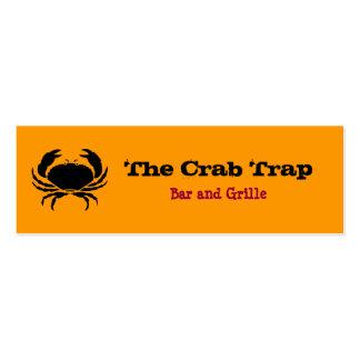 Restaurantes 2 del cangrejo y de los mariscos tarjetas personales