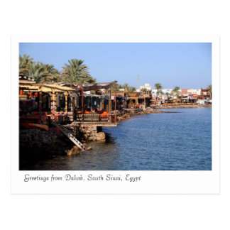 Restaurantes de Dahab, Sinaí del sur, Egipto Tarjeta Postal