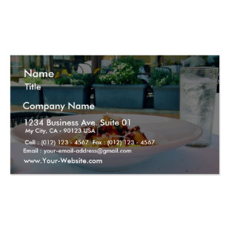 Restaurantes de la comida tarjetas de visita