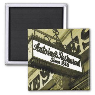 Restaurantes de New Orleans Imán Cuadrado