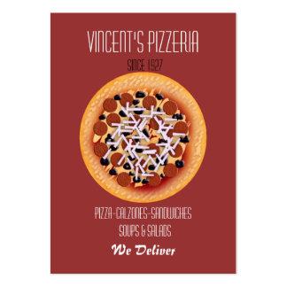restauranteur de la pizza tarjetas de visita
