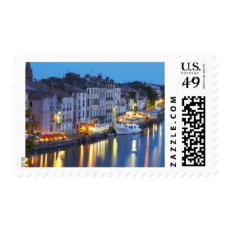 Restaurants along the l'Herault river. L'Herault 2 Postage Stamp