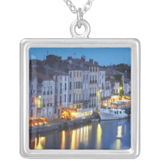 Restaurants along the l'Herault river. L'Herault 2 Silver Plated Necklace