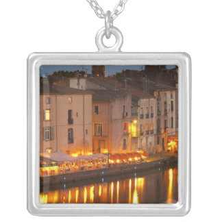 Restaurants along the l'Herault river. L'Herault Silver Plated Necklace