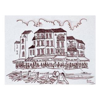 Restaurants Waterfront   Cassis, France Postcard