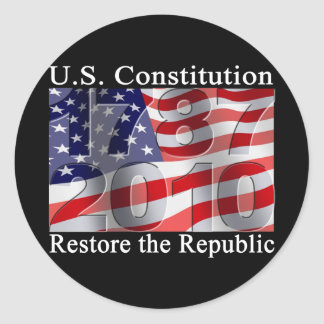 Restaure a los pegatinas de la república pegatina redonda