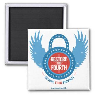 Restaure el cuarto imán de frigorífico