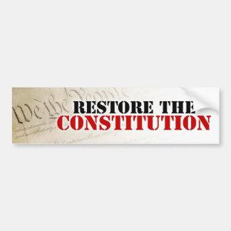 Restaure la constitución pegatina para auto