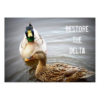 Restaure la tarjeta de visita del delta