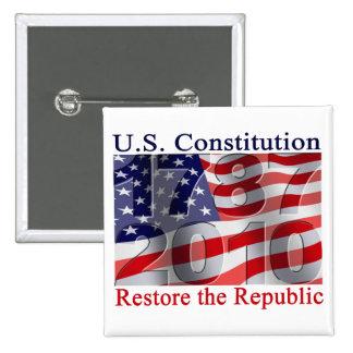 Restaure los botones de la república pin cuadrado