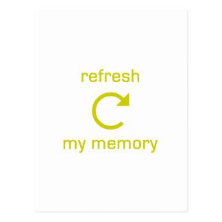 Restaure mi memoria (el texto amarillo) postal