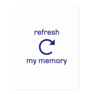 Restaure mi memoria (el texto azul) postal