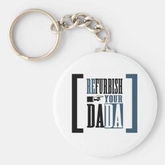 Restaure su Dada Llavero Redondo Tipo Pin