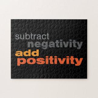 Reste la negatividad y añada la positividad rompecabeza con fotos
