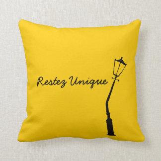 Restez Unique French Vintage Yellow Gem Tones Throw Pillow