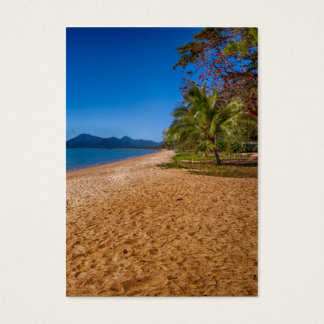 restful beach view business card