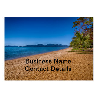 restful beach view large business card