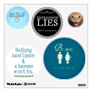 Restickable Wall Decals for Home of Office