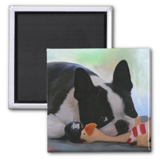 Resting 2 Inch Square Magnet