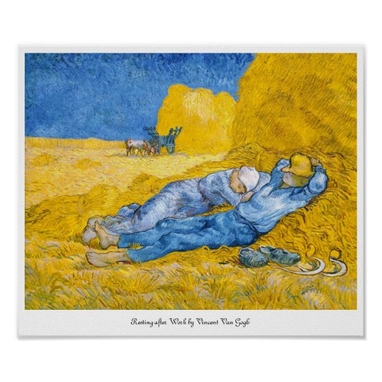 Resting after Work by Vincent Van Gogh Poster