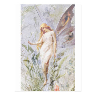 Resting - Angel with Lillies Postcard