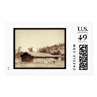 Resting at the Old Log Cabin Home SD 1887 Postage Stamps