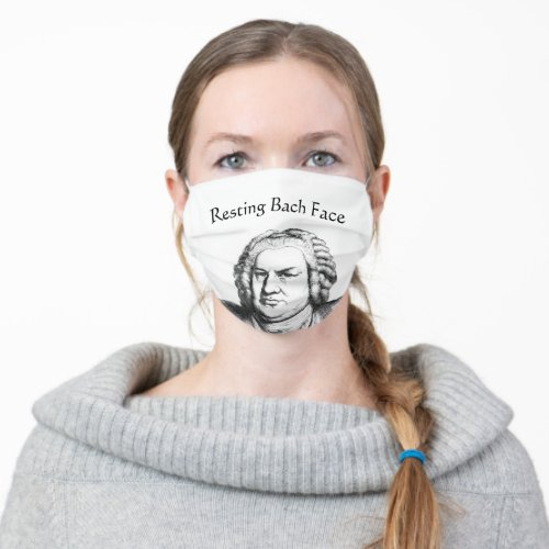 Resting Bach Face Classical Music Composer Cloth Face Mask