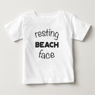 Resting Beach Face Print Baby T-Shirt