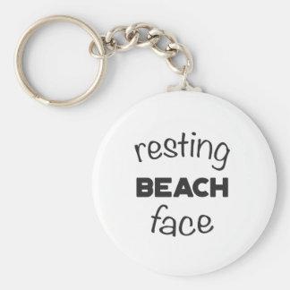 Resting Beach Face Print Keychain