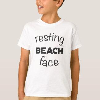 Resting Beach Face Print T-Shirt