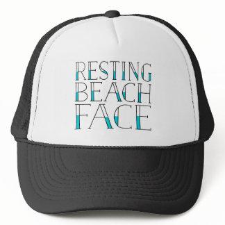 Resting Beach Face Summer Trucker Hat