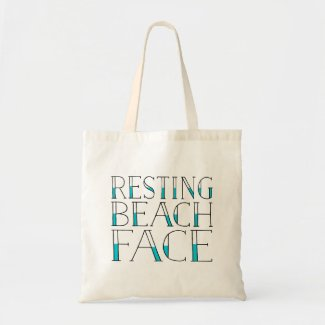Resting Beach Face | Summer Typography Tote Bag