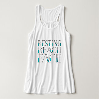 Resting Beach Face Tank Top