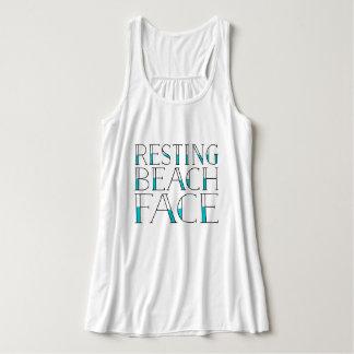 Resting Beach Face Tank Top