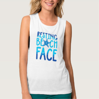 c63be6bc294b6 Resting Beach Face Tank Top at Zazzle