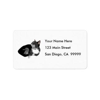 Resting Black Cat Label