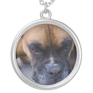 Resting Boxer Dog Necklace