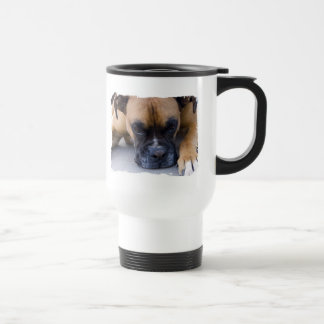 Resting Boxer Dog Plastic Travel Mug