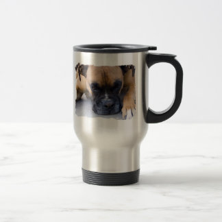 Resting Boxer Dog Stainless Travel Mug